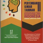 dr. Ira Aini Dania, M.Ked (KJ)., Sp.KJ. dalam Pertemuan Ilmiah Tahunan II Perhimpunan Dokter Spesialis Kedokteran Jiwa Indonesia  Cabang Sumatera Utara